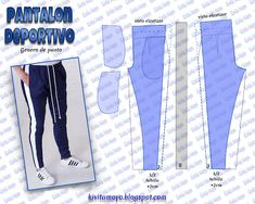 Sewing Pants, Sewing Clothes, Diy Clothes, Mens Sewing Patterns, Clothing Patterns, Fashion Sewing, Diy Fashion, Formation Couture, Sports Trousers