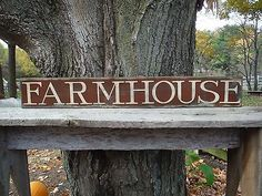 """40"""" FARM HOUSE Old Wood Sign Vintage Rustic Primitive Country kitchen distressed"""