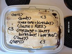 Made My Programmer Boyfriend A Birthday Cake