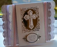 This Christening card was made with various Spellbinders dies. Made by Christine Duncan