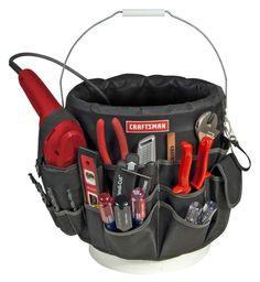 Craftsman 56 Pocket Bucket Bag Organizer Storage Portable Tools Stationery #Craftsman