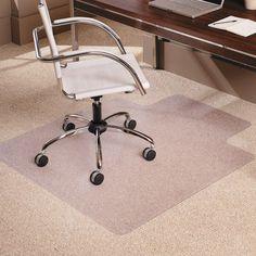 ES Robbins 45 x 53 EverLife Chair Mats For Medium Pile Carpet - ESR122173