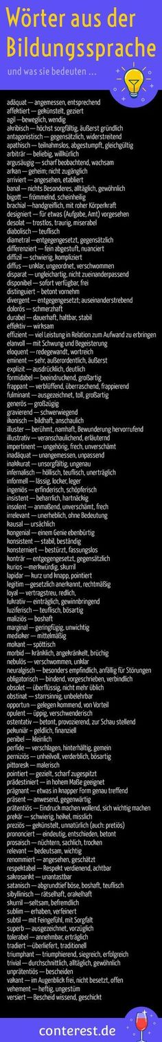 125 adjectives from the educational language for wiser Adjektive aus der Bildungssprache für klügere Texte 99 words from the educational language and what they mean. For more exciting texts. German Language Learning, Maila, E Mc2, Learn German, Nutrition Education, Education Jobs, Education System, Physical Education, Worksheets