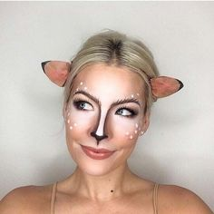 Cute Deer Makeup for Cute Halloween Makeup Ideas