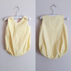Vintage 1950s Yellow Gingham Baby Sunsuit / Buster Brown / 12 Months Shop at www.etsy.com/Shop/ThriftyVintageKitten