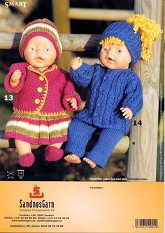 Album – Google+ Knitting Dolls Clothes, Baby Doll Clothes, Baby Dolls, Knitted Doll Patterns, Knitted Dolls, Knit Baby Dress, Diy Buttons, Baby Born, Child Doll