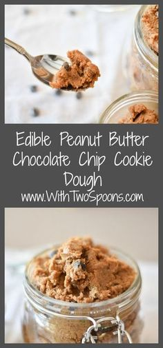 edible chocolate chip peanut butter cookie dough
