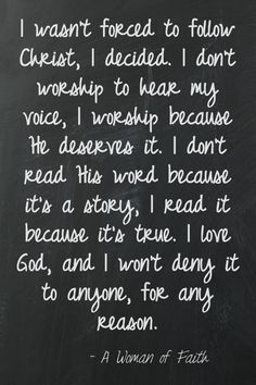 I will never be afraid to reveal that I am a Christian, a follower of Jesus Christ.