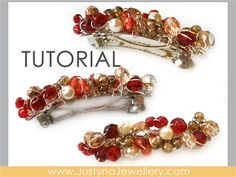 Hair Clip Tutorial French Barrette Tutorial by JustynaJewellery, $4.99