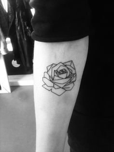 geometric rose tattoo - Google Search