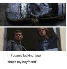 That's what you get for stepping out on Baby, Sam. You get your car smashed by an angel. It's just how it works.