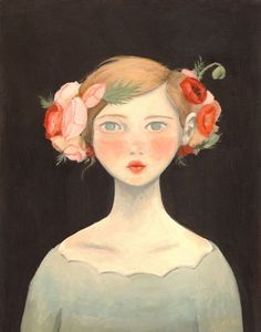 'Shirley Poppy' by Emily Winfield Martin via 'TheBlackApple'♥❤♥ #art #illustration #painting