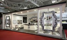 Custom Made Exhibition Stand for Buckingham Schenk by Quantum Exhibitions at the London International Wine Fair