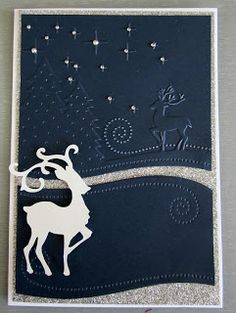 Artdeco Creations: Christmas Card Creating | #CoutureCreations Wrapped In Joy Embossing Folders