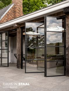 Outdoor Rooms, Outdoor Living, Future House, My House, Steel Doors And Windows, Gazebos, House Extension Design, House Extensions, Glass House