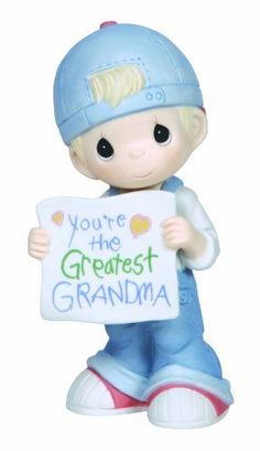 Best Seller Precious Moments, You're The Greatest Grandma, Bisque Porcelain Figurine, Boy, 133034 online - Findtopbrandsgreat Grandparents Day Gifts, Grandma Gifts, Grandma's Boy, Precious Moments Figurines, Tole Painting, Cute Gifts, Cleaning Wipes, Birthday Gifts, Hand Painted