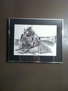 Robert Michelutti Locomotive Train Print Framed | eBay