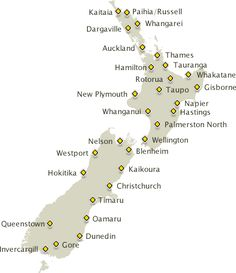 Driving times and distances map of New Zealand - AA Tourism www.aatravel.co.nz