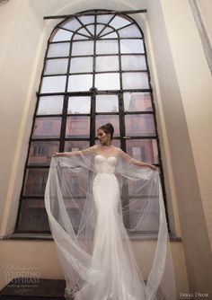 inbal dror wedding dress cape
