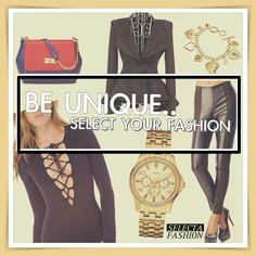 Outfity na bežný deň - Casual outfits - SELECTA FASHION bodysuit handbag guess watch, peplum jacket, wet look leggings, guess bracelet fashion style inspiration black gold red Wet Look Leggings, Peplum Jacket, Bodysuit Fashion, Fashion Bracelets, Black Gold, Casual Outfits, Style Inspiration, Watch, Unique