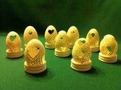 gravírozott tojáskák