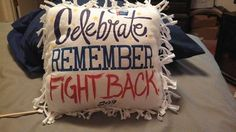 Turn your Relay For Life tee shirt from past year's events into a pillow!  Great idea!