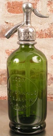 Half Liter Green Seltzer Bottle from the 1930's