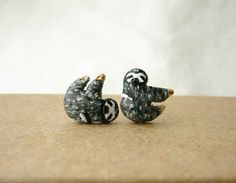 Sloth Stud Earrings, $30