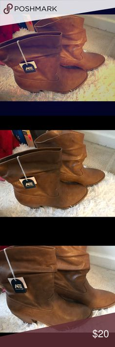 Brown boots Brown boot never worn no box American Eagle By Payless Shoes Heeled Boots