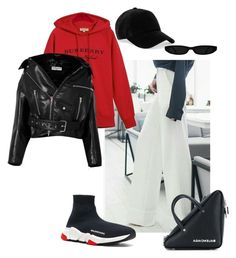 """""""Untitled #8"""" by m-linev on Polyvore featuring Balenciaga, Burberry and rag & bone"""