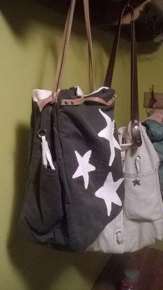 Recyklácia starých vecí, staré nohavice, vnútro stará košeľa a biele 80-100 ročné plátno Bags, Fashion, Handbags, Moda, Fashion Styles, Fashion Illustrations, Bag, Totes, Hand Bags