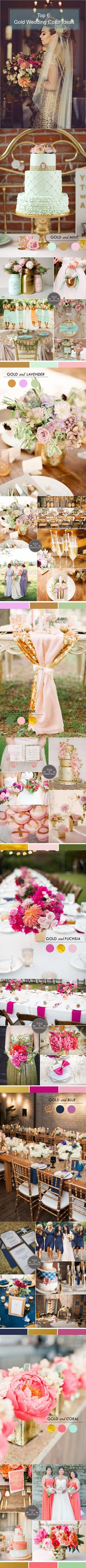 top 6 gold wedding color ideas 2015~