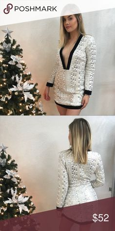 Icy Mini This item is from a boutique in Miami called Mar-Bella's Boutique. Follow us on instagram @mar_bellasboutique  We accept reasonable offers   Bundle and save 20% Dresses Mini