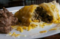 Beef Chimichangas   OAMC from Once A Month Mom
