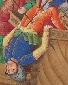Compillation des Cronicques et ystores des Bretons, partie en III livretz, » par Pierre LE BAUT, secrétaire de Jean, sire de Derval.  Date d'édition :  1401-1500  Français 8266  Folio 216v