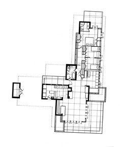 Historical House Plans Elegant Frank Lloyd Wright Site Plan With Frank Lloyd Wright Plan Drawings Usonian House, Jorn Utzon, Frank Lloyd Wright Homes, Small Floor Plans, Philip Johnson, Vintage House Plans, Arch House, Architecture Images, Classic House
