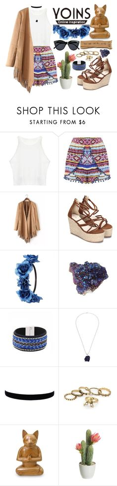 """Yoins"" by roxeyturner ❤ liked on Polyvore featuring Charlotte Russe, NOVICA, Le Specs, yoins and loveyoins"