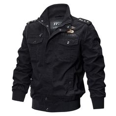 da811e4ba WEEKLY DEAL - REFIRE GEAR Military Canvas Bomber Jacket Us Army Jacket,  Plus Size Military