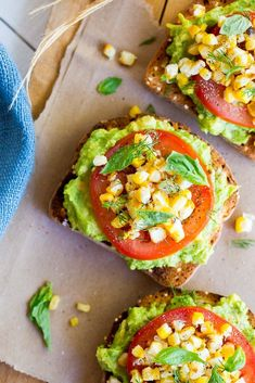 This Summer Avocado Toast with Grilled Corn is easy to make and the perfect way to use up that summer produce!