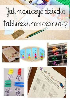 Multiplication – skip counting and Montessori materials Math For Kids, Yoga For Kids, Science For Kids, Fun Math, Activities For Kids, Polish Language, Math Multiplication, Maths, Montessori Materials