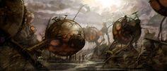 environmental design by Chris J. Tabula Rasa, Landscape Concept, Alien Worlds, Environmental Design, The Real World, Sci Fi Art, Painting & Drawing, Graphic Art, Concept Art