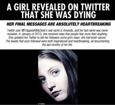 cool-Twitter-cancer-story-girl - I know, I put it in LoL. I respect this woman and it's just a way to remember where it is.