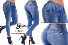 Pantalón colombiano Factu Jeans Modelos en: www.ropadesdecolo... #pantalones #jeans #pantalonescolombianos #pantalon