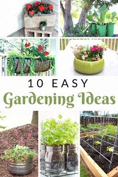 Urban Garden Love easy gardening ideas that are DIY and perfect for a large or small backyard or even front porch? These oh so simple gardening and container ideas have flowers, decorations, perennials and herbs. Perfect for small spaces too! Backyard Garden Landscape, Small Backyard Gardens, Large Backyard, Small Gardens, Backyard Landscaping, Garden Art, Tropical Backyard, Balcony Gardening, Rustic Backyard