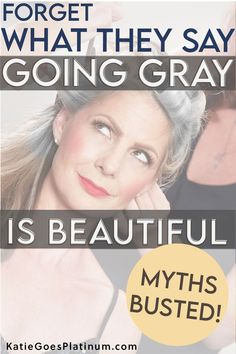 Many of us grew up hearing things about gray hair that simply weren't true.  A number of these misconceptions were rooted in sexism, ageism and bad science.  Let's take a peek at these gray hair myths and find out what the truth really is! #grayhair #goinggray #grombre Hearing Things, Caucasian People, Hair Doctor, Transition To Gray Hair, Stylish Haircuts, Take That, Let It Be, Going Gray, Grey Hair