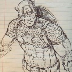 I'm still alive to prove it here is a little sketch in my Web Design notebook. I just can't ever seem to step away from comics! #captainamerica #illustration #sketch