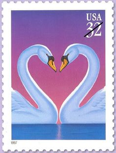 usps love stamp collection | Love stamp postcard -- 1997 32c Swans | Flickr - Photo Sharing!