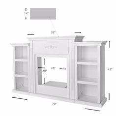 Fireplace Bookcase, Faux Fireplace Mantels, Fireplace Tv Stand, Bookcase Shelves, Mantles, Fireplaces, Faux Foyer, Portable Fireplace, Bookcase Styling