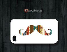 mustache case iphone case iphone 4 case iphone 4s case iphone 4 cover mustache graphic atwoodting design. $13.99, via Etsy.