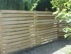 Horizontal Oak fencing gives a very modern and contemporary look to your fencing and garden. Exceptionally long lasting high quality fencing with matching Horizontal Oak gates. Wood Privacy Fence, Timber Fencing, Cedar Fence, Fence Panels, Wood Fences, Backyard Fences, Garden Fencing, Outdoor Landscaping, Horizontal Slat Fence